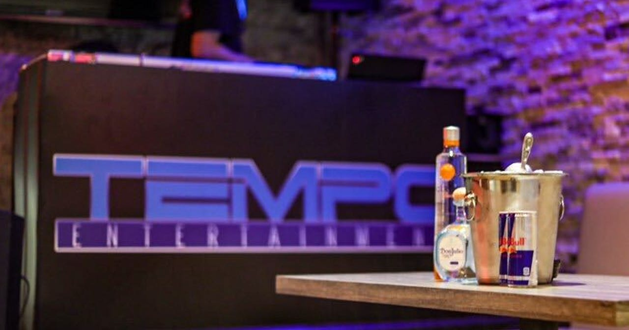 Inside look of Tempo Ultra Lounge with bottle service