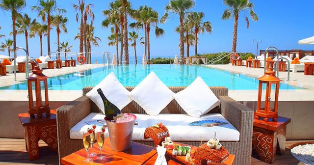 View of the interior of Nikki Beach after getting free guest list