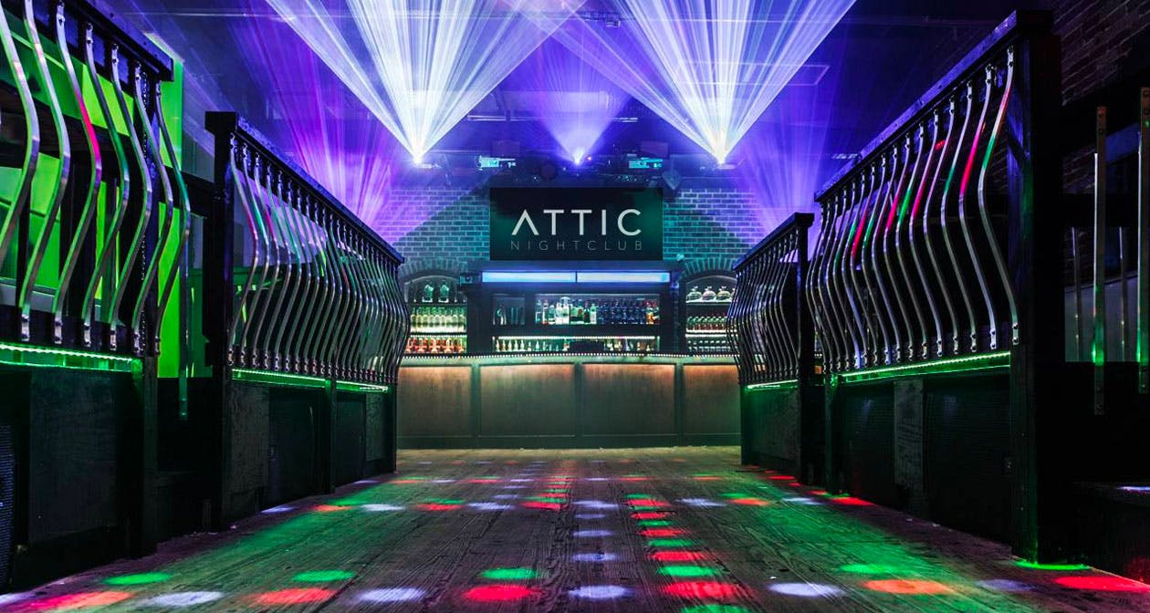 View of the interior of The Attic after getting free guest list