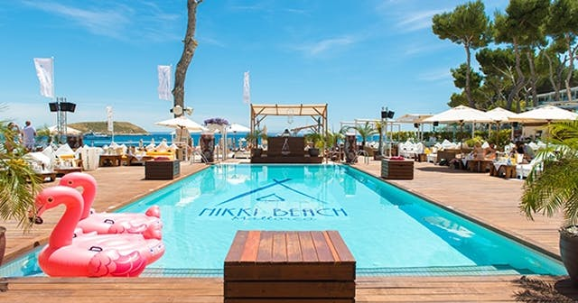 Inside look of Nikki Beach with bottle service