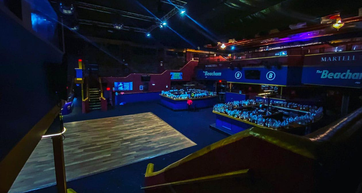 View of the interior of The Beacham after buying tickets