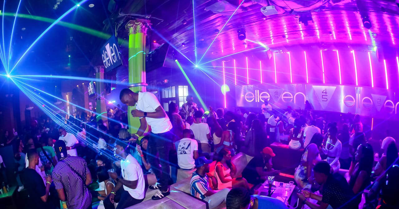 Inside look of Elleven45 after getting free guest list